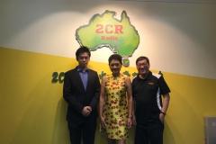著名歌后葉麗儀小姐到訪2CR中文廣播電台